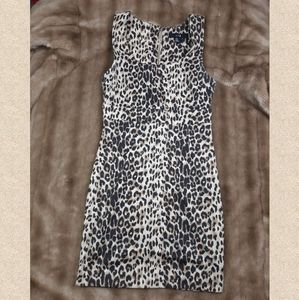Bodycon leopard print dress - pinup - rockabilly